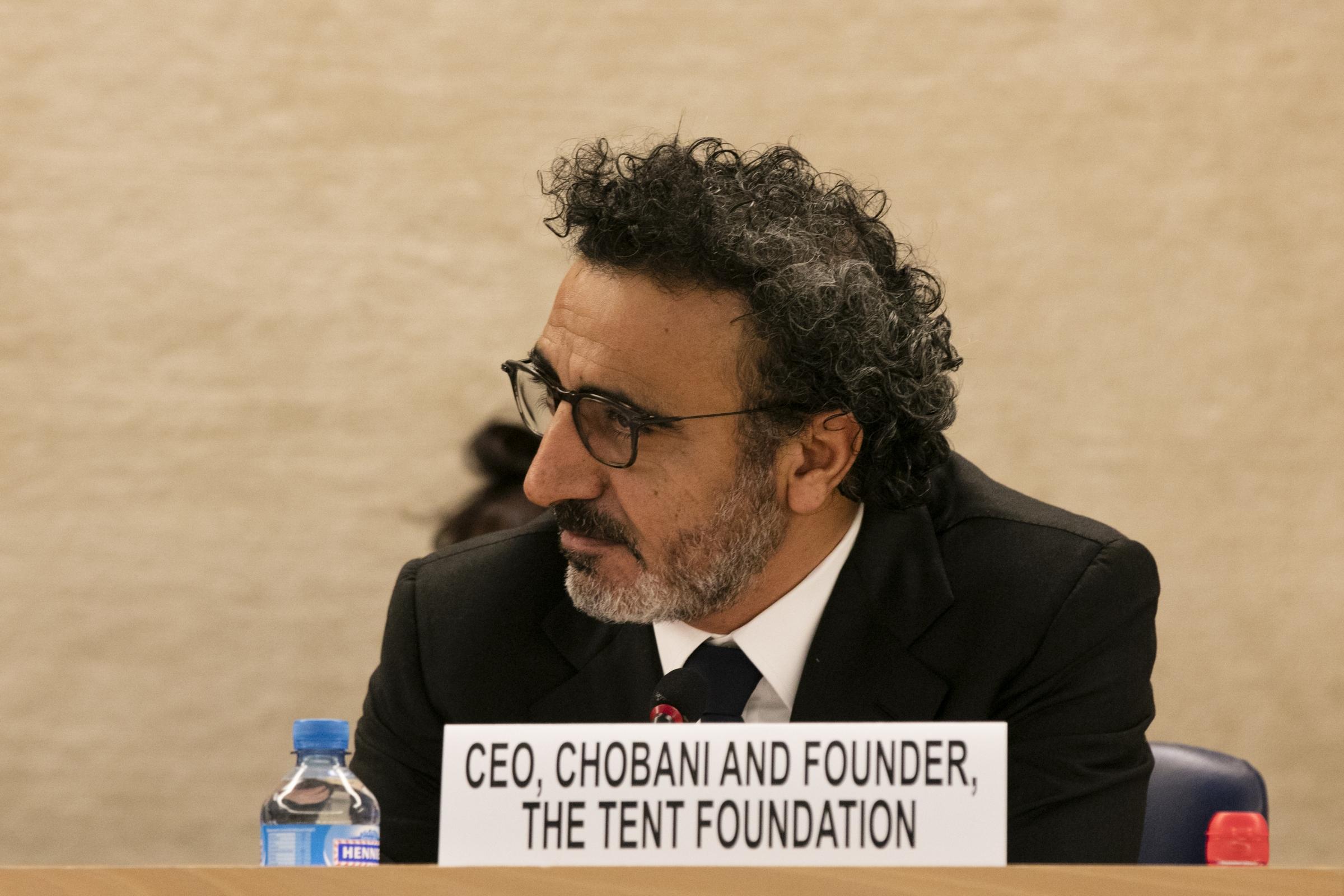 İşadamı Hamdi Ulukaya BM toplantısında iş dünyasını mülteciler için çözüme çağırdı