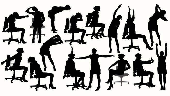 İş hayatının getirdiği oturuş ve duruş bozukluklarından bu egzersizlerle kurtulun!