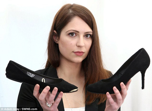Topuklu ayakkabı tartışmasında zafer kadın çalışanın